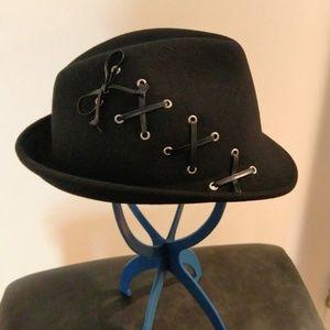 Black Fedora Hat by Callahan - Women